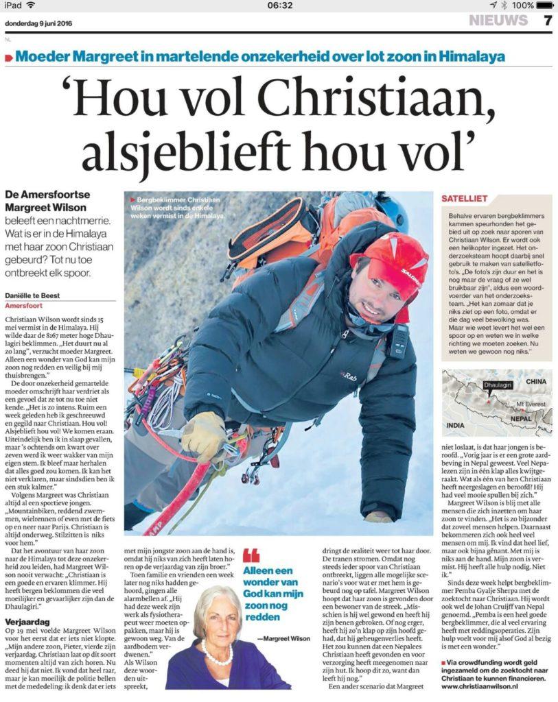 Artikel Christiaan AD Amersfoort