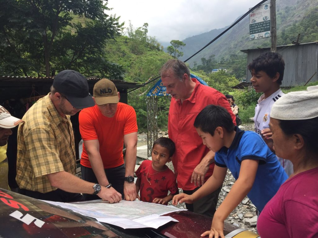 Felix, John en Ben in Nepal