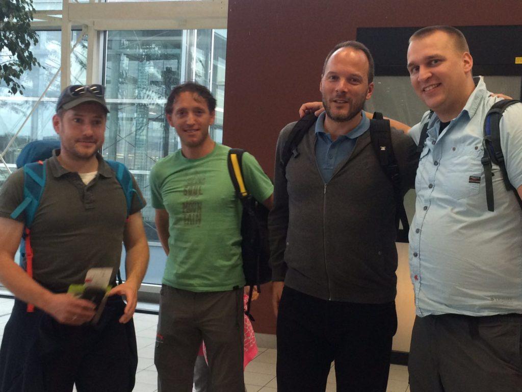 Pieter, Michel, Herman Peter en Sander