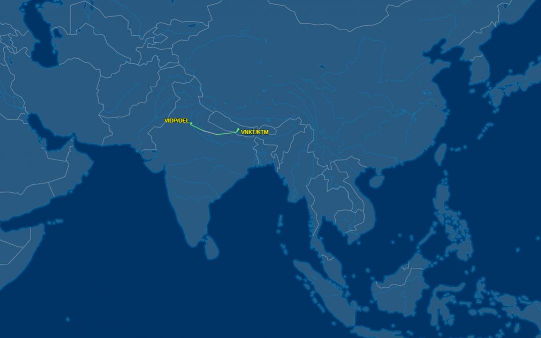 Ruben veilig aangekomen in Kathmandu